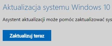Aktualizacja posiadanego systemu Windows 10