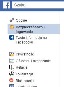 Bezpieczenstwo i logowanie facebook