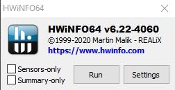 hwinfo64 pierwsze uruchomienie