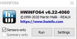 Sensors only hwinfo64