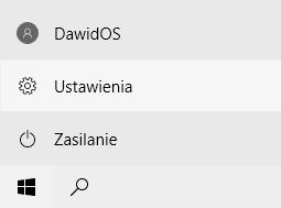 Ustawienia menu start windows10
