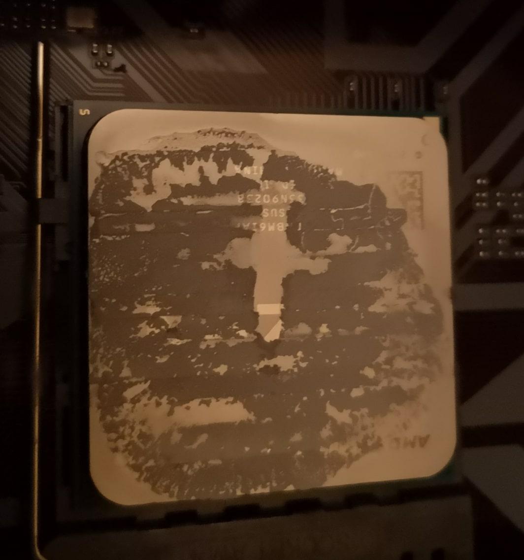 Wyschnięta pasta procesor