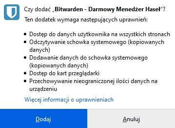 Dodawanie dodatku do Firefox