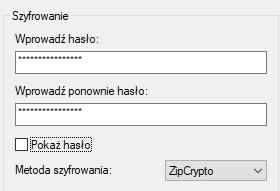 wprowadz haslo 7-zip